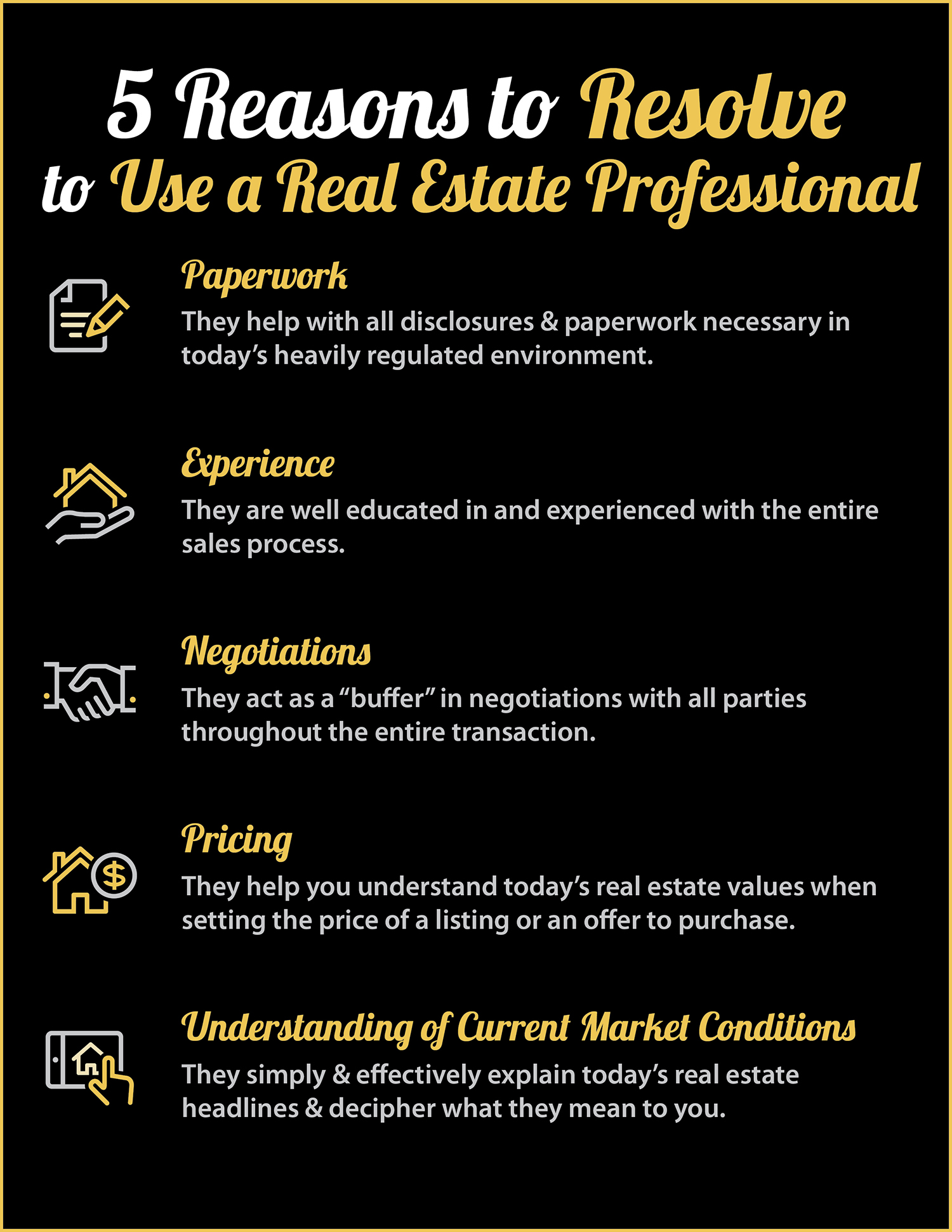 hire a real estate professional infographic
