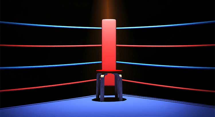 someone in your corner of the boxing ring