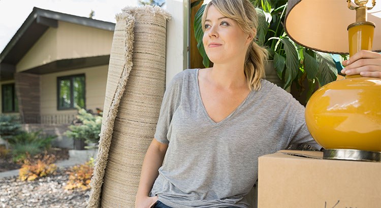 woman moving into her sacramento home